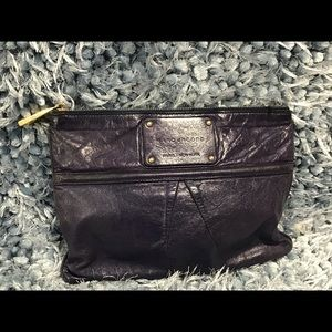 Marc Jacob plum leather clutch or accessory bag